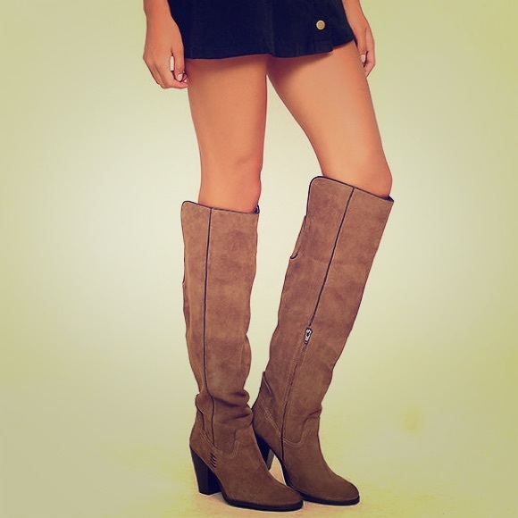 215789ca4d9 Lulu s Shoes - Lulu s Mia Nigel Suede Leather Knee High Boots